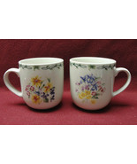Two (2) NATIONAL WILDLIFE FEDERATION - WILDFLOWER BOUQUET - COFFEE MUGS - $26.95