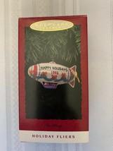 Hallmark Keepsake Ornament 1993 Tin Blimp Holiday Fliers  - $10.39