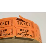Amscan  Orange Double Roll Raffle Tickets Numbered Raffe | Keep This Cou... - $14.36