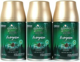 (3) Glade Limited Edition Icy Evergreen Forest Automatic Spray Refill 6.2 Oz - $31.67