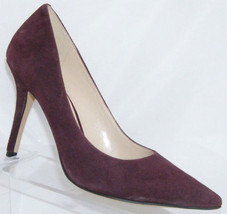 Nine West 'Jackpot' purple suede pointed toe slip on classic pump heel 5.5M - $33.34