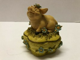 Melodies County Fair Heritage House PIGGY SOW Pill Box Figure - $4.95