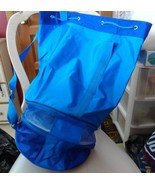 Large blue drawstring picnic tote - $23.00
