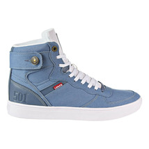 Levi's Jeffrey Hi 501 BYF Men's Fashion Shoes Blue-White 518441-07U - $59.95