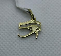 Egyptian Handmade Eye of Horus 18K Yellow Gold Pendant 0.85Gr - $135.32