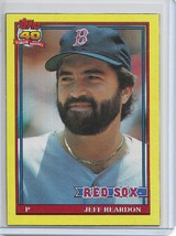 1991 Topps Baseball Wax Box Cards Jeff Reardon # M Boston Red Sox - $1.00