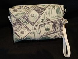 Clutch Bag/Wristlet/Makeup Bag - Money, dollars, 20's, 100's, 1's, greenbacks image 2