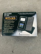 Electronic Organizer Calculator Sharp OZ-7000 Wizard Vintage PDA With Bo... - $29.69