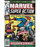 Marvel Super Action Comic Book #3 Captain America 1977 FINE+ - $7.38