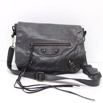 AUTHENTIC BALENCIAGA Folk Shoulder Bag Black Sheepskin 246432 - $490.00