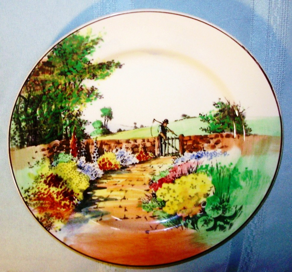 "Primary image for The Reaper Porcelain Plate by Royal Doulton 8 1/2"" Backmark Date 1930-1945"