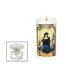 Michael Zohar Candles Religious Candle HOLY Mother Mary REFILLABLE Infin... - $34.29
