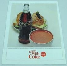 1965 Print Ad Coca-Cola Bottle of Coke & Soup & Sandwich - $11.47