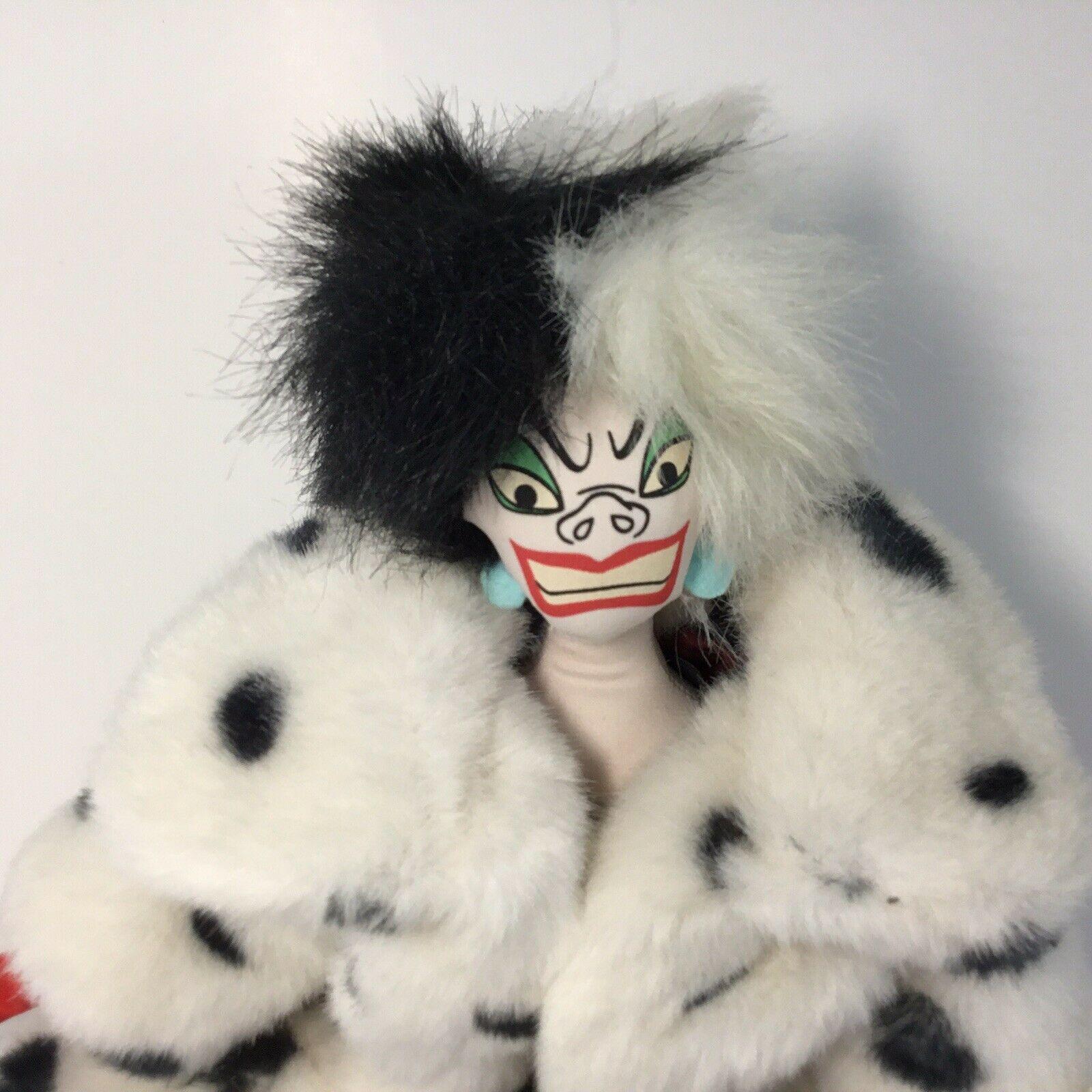 "Disney 101 Dalmatians Villain Plush CRUELLA DE VIL Doll -- 18"" H image 2"