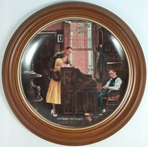 """Gorham Plate - Norman Rockwell Saturday Evening Post 1955 """"The Marriage License"""" - $24.63"""