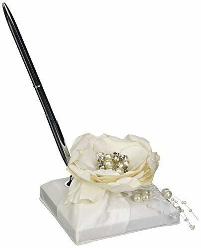 Lillian Rose Rustic Vintage Lace Flower Wedding Guest Book Pen