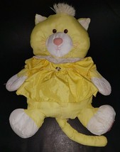 VTG Fisher Price Yellow Puffalump Kitten Plush Kitty Cat Stuffed Toy Dre... - $24.70