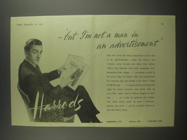 1953 Harrods Store Ad - But I'm not a man in an advertisement - $14.99