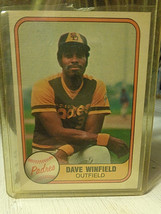 1981 FLEER BASEBALL CARD  # 484 DAVE WINFIELD  San Diego Padres  NM - $1.09