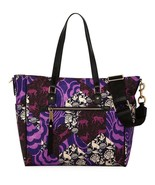NWT Marc Jacobs Trooper Tapestry Purple Nylon Baby Diaper Bag Tote New $350 - $189.00