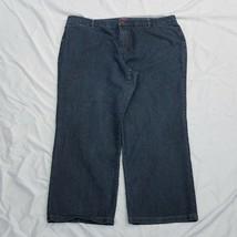 Westport Indigo Dark Blue Denim Wide Leg Jeans Size 22W - $19.34