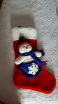 "THICK PLUSH 21"" TB TRADING CO. SNOWMAN STOCKING, HIGH QUALITY, UNUSED, 1... - $10.65"