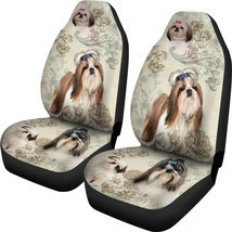 Shih Tzu Lover Car Seat Covers Pair, 2 Front Car Seat Covers, Seat Cover... - $59.95