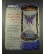 1991 Bell Communications Research Bellcore Ad - And in today already walks - $14.99