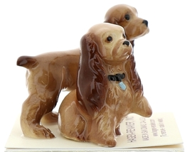 Hagen-Renaker Miniature Ceramic Dog Figurine Don Winton Cocker Mama and Papa Set image 2