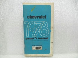 1978 Chevrolet Chevy Owners Manual 16073 - $16.82