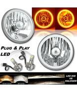 5-3/4 Amber COB LED Halo Angel Eye Crystal Clear Headlamp 6k LED Light B... - $139.95