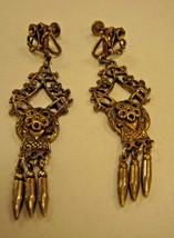 EARRINGS screw back long dangling on SCREW BACK earrings - $2.96