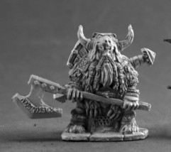 Dwarf Bodyguard Reaper Miniatures Dark Heaven Legends Fighter Warrior Melee - $8.70