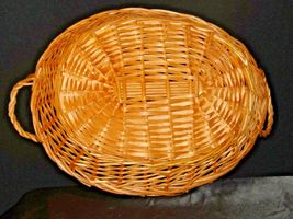 Handmade Woven Wicker Basket with Double Handles AA-191712 Vintage Collectible image 7