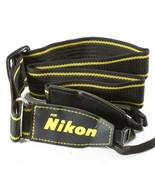 Nikon Brand Woven Camera Neck Strap / Shoulder Strap - Black & Yellow - $12.42