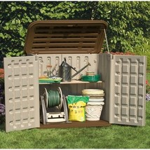Outdoor Storage Shed Small Plastic Deck Box Garden Patio Backyard Garage... - $385.79