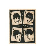 Mounted Rubber Stamp, Beatles Stamp, Fab Four Stamp, Card Stamp, Music S... - $9.73