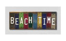 Beach Time License Plate Strip Novelty Wood Sign WS-055 - $55.16
