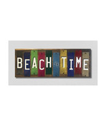 Beach Time License Plate Strip Novelty Wood Sign WS-055 - $63.99