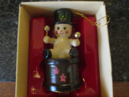 Russ Berrie Country Antique Ornaments Drummer Boy snowman - $5.99