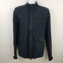 Banana Republic Woven Cotton Navy Blue 4 Pocket Men's Military Jacket Si... - $36.14