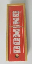 Vintage Set of All Wooden Dominoes with Wooden Case - $28.04