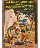 1 Vintage Happy Hollisters and the Scarecrow Mystery Childrens Mystery B... - $8.99