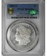1890-O $1 Morgan Dollar PCGS Green CAC MS66PL Proof Like Blast White Sil... - £14,102.20 GBP