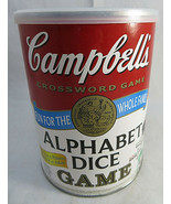 Campbell's Alphabet Dice Crossword Game Complete SEALED Family TDC Games - $15.00