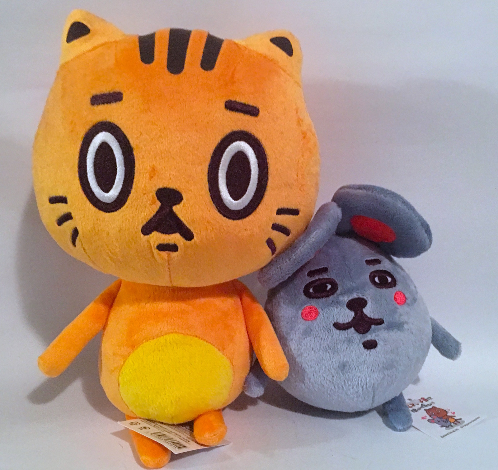 Cherri Polly Baketan Plush Cat and Mouse set