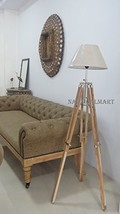 NAUTICALMART DESIGNER'S CLASSICAL TEAK WOOD TRIPOD FLOOR LAMP - $187.11