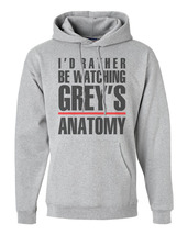 I'd Rather be Watching Grey's Anatomy | Unisex Hoodie S-3XL | LIGHT STEEL - $31.00+