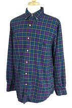 Chaps Ralph Lauren Men's Classic Oxford Blue Plaid Shirt Large Tall - $12.86
