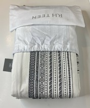 Restoration Hardware Milly Embroidered Duvet Cover Twin White/Black NEW ... - $119.99